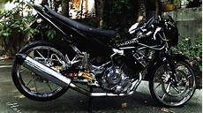 Modifikasi Motor Satria Fu Standar by Modifikasi Motor Satria Fu Warna Hitam Motor