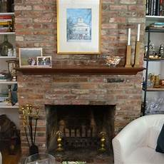 painted brick fireplace white hometalk