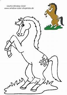 Window Color Malvorlagen Pferde Tiere Vorlagen 3