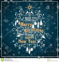 i wish you a merry christmas and happy new year stock vector illustration of december