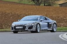 spyshots audi r8 facelift makes testing debut looks like the acura nsx autoevolution