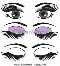Malvorlagen Seite De Ojos Ojos De Vector Con Maquillaje