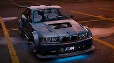 bmw e36 tuning bmw m3 e36 v8 biturbo add on tuning gta5 mods