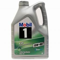 mobil 1 esp 0w40 5 litre from mcganns northton