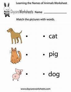 learning animals worksheets 13934 free learning the names of animals worksheet for preschool