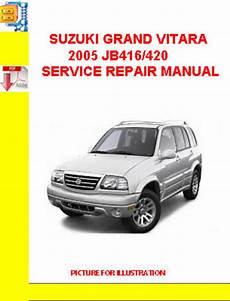 car repair manuals online free 2005 suzuki xl 7 electronic throttle control suzuki grand vitara 2005 jb416 420 service repair manual tradebit