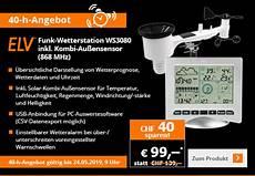 Elv Ch 40 Jahre Elv Funk Wetterstation Ws3080 Um 40 Chf