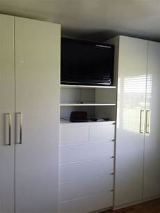 kleiderschrank mit tv fach ikea great use of the pax system from ikea we put an ikea