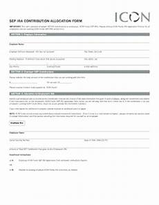 fillable online important this form allocates employer sep ira contributions to employees icon