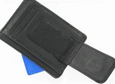 Genuine Leather MAGNETIC MONEY CLIP ID CARD HOLDER CASE