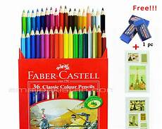 buy faber castell color pencil 36 with free premium faber