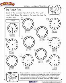 worksheet for kindergarten about time 3598 it s about time view kindergarten math worksheets jumpstart