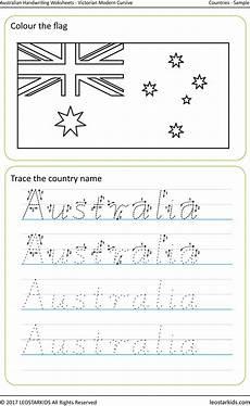 free handwriting worksheets modern cursive 21612 australian handwriting worksheets modern cursive country names free sle