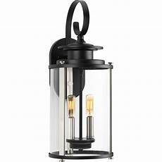 progress lighting squire collection 2 light black 19 25 in outdoor wall lantern p560037 031