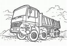 Malvorlagen Lkw Mercedes Dump Truck Mercedes Coloring Page For Transportation