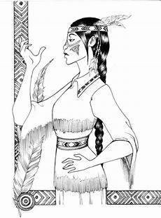 indian princess coloring pages at getdrawings free