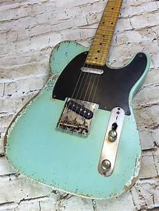 Fraser Guitars Aged Seafoam Green 50s Telecaster Guitar