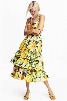 this h m yellow floral dress is the for
