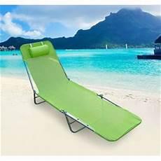chaise longue pliante bain de soleil inclinable transat