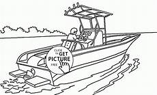 real speed boat coloring page for transportation