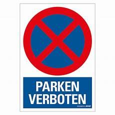 Verbotsschild Motiv Parken Verboten L X B 23 X