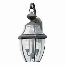 talista 2 light outdoor royal bronze wall lantern with clear beveled glass cli frt1301 02 14