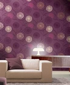 tapeten lila 85 wohnzimmer tapeten ideen florale und barock muster