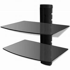 Wandregal Aus Glas - der wandregal aus glas f 252 r dvd 2 ebenen schwarz