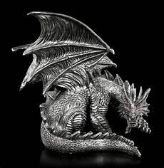 Drachen Schwarz Weiß - drachen figur mit roten augen obsidian www figuren shop de