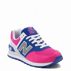 womens new balance 574 athletic shoe pink blue