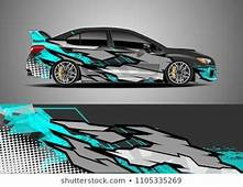 Car Decal Vector Graphic Abstract Racing Designs For