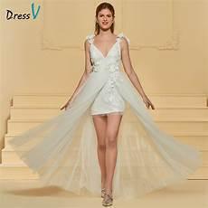 aliexpress com buy dressv v neck elegant a line beach wedding dress spaghetti straps lace