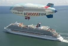carnival cruise line announces new blimp tour