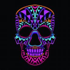 Different Colors Available Premium Skulls Decorative Skull From Neon Color Vector Premium Download