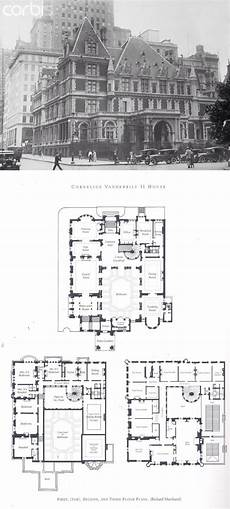 vanderbilt housing floor plans cornelius vanderbilt ii house mansion floor plan