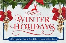 winter holiday winter holidays freebies display fonts