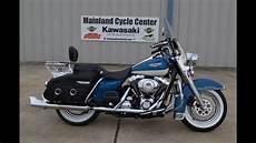 harley road king sold 2001 harley davidson road king classic blue white