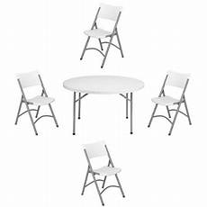 national seating nps 48 inch round folding table and of 4 chairs walmart com