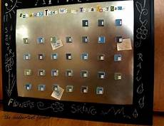 sheet metal tile magnets chalkboard paint calendar board craft tutorial whew the