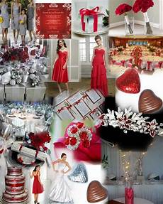 silver and red wedding decorations