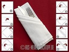 bestecktasche falten anleitung servietten falten vom tafelspitz zur bestecktasche