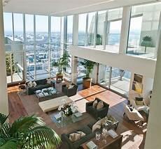 Penthouse Interior Design With Orange Accents