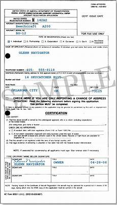 faa registration form aircraft registration part two