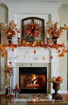 Fireplace Mantel Decorations by Adventures In Decorating Our Fall Mantel