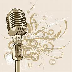 Vintage Microphone Vector Stock Vector Illustration Of