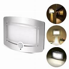motion sensor activated led wall light battery operated l for home indoor cor ebay