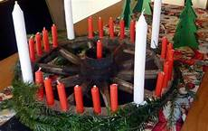 der erste adventskranz war ein wagenrad