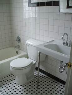 bathroom tiles black and white ideas black and white tile bathrooms done 6 different ways retro renovation