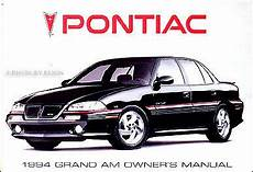 car manuals free online 1988 pontiac grand am user handbook 1994 pontiac grand am se and gt owners manual 94 mint owner guide book ebay