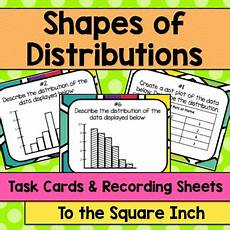 shapes of distributions worksheets 1079 shapes of distributions task cards by to the square inch kate coners